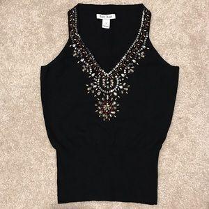 White House Black Market Sleeveless Jewelry Top